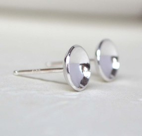 Sterling Silver Cupped Studs