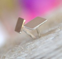 Sterling Silver Deconstructed Chevron Studs