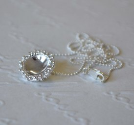 Sterling Silver Granulation Dome Necklace