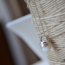 Sterling Silver and Freshwater Pearl Gumnut Necklace