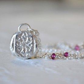 Sterling Silver & Tourmaline Star Relic Pendant