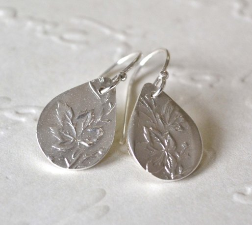 Sterling Silver Maple Leaf Earrings