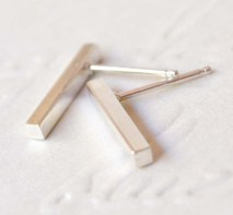 Sterling Silver Mid Bar Studs