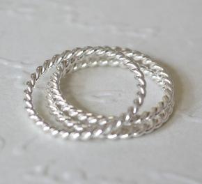 Sterling Silver Twist Rings